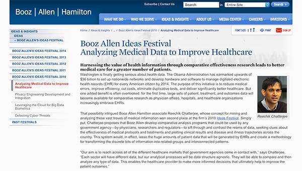 Booz Allen Ideas Festival: Web Content